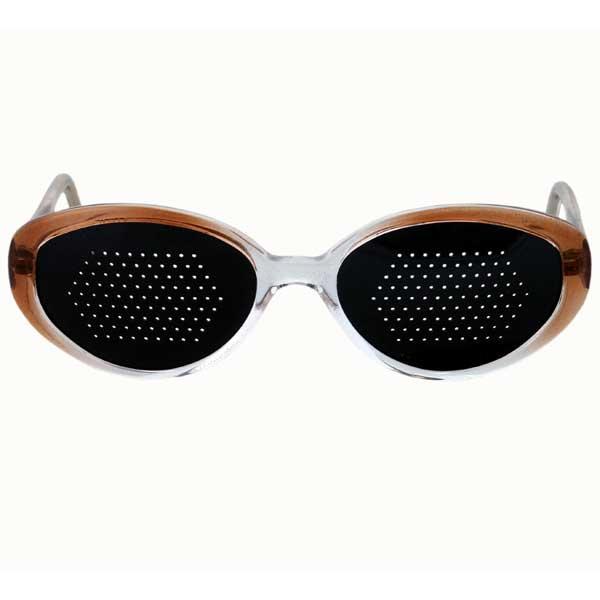 Okulary niesoczewkowe ajurwedyjskie damskie (brązowa oprawa)