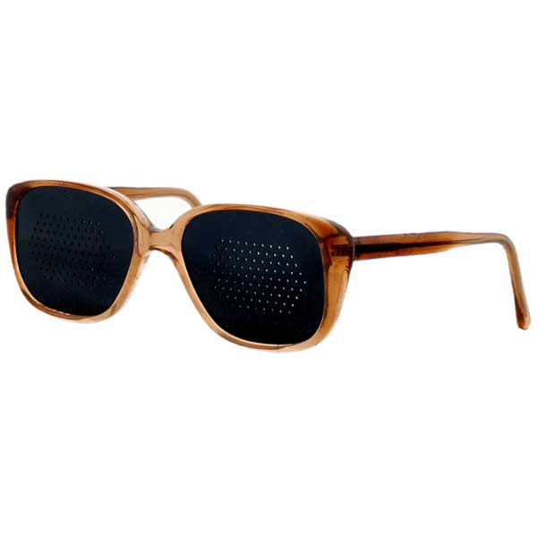 Okulary niesoczewkowe ajurwedyjskie męskie (brązowa oprawa)