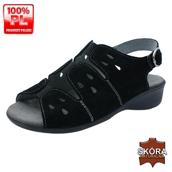 Sandały zdrowotne 25056 czarne