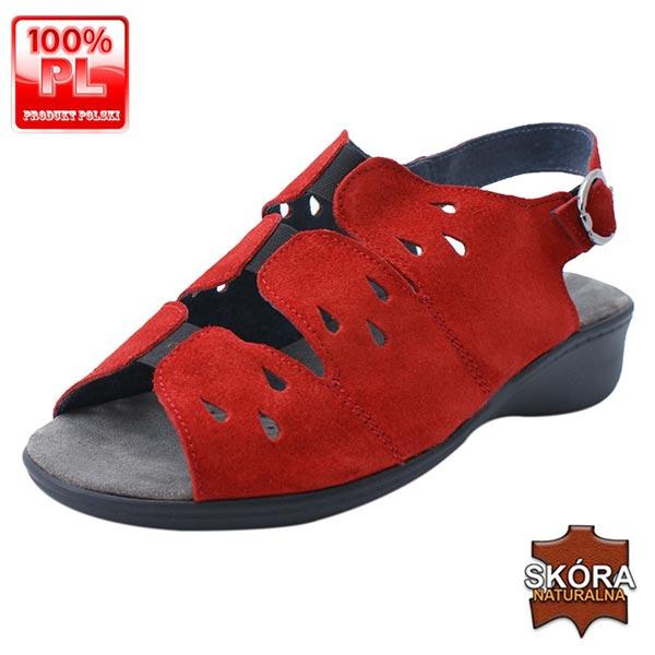Sandały zdrowotne 25056 czerwone