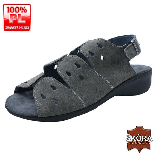 Sandały zdrowotne 25056 szare