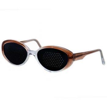 Okulary niesoczewkowe damskie (brązowa oprawa)
