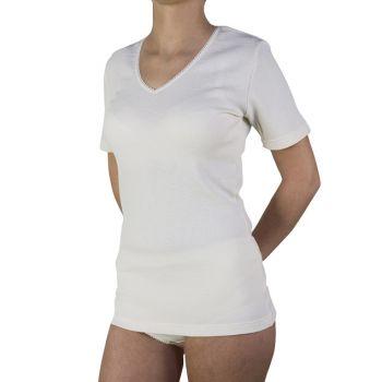 Bursztynowa koszulka damska wełniana, przeciwreumatyczna PT 0525