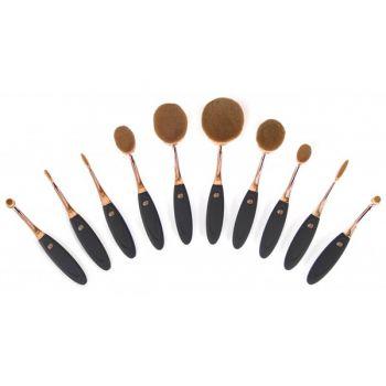 Zestaw 10 szczoteczek do profesjonalnego makijażu Rio Beauty