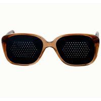 Okulary niesoczewkowe męskie (brązowa oprawa)